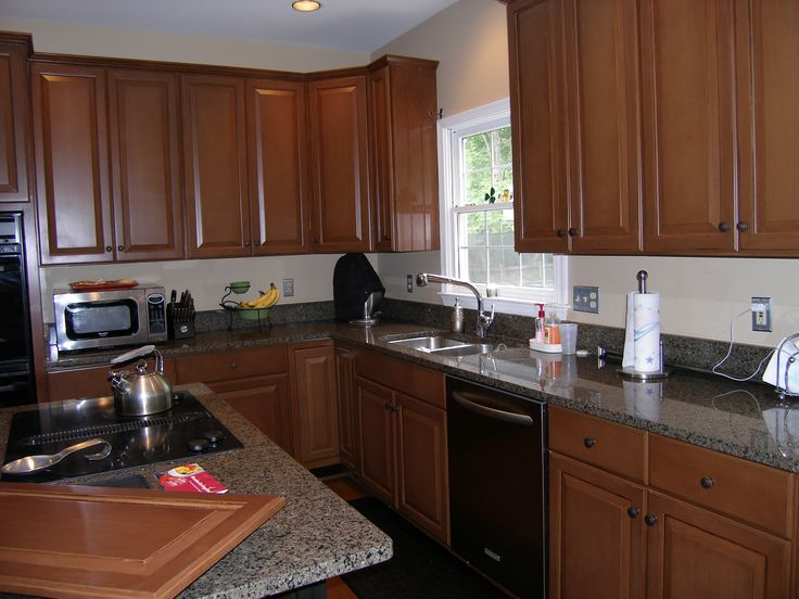 A Transformed Kitchen That Had Been White Thermofoil Cabinets | Kitchen  Cabinet Refinishing, Refacing U0026 Redesign | Pinterest | Kitchens
