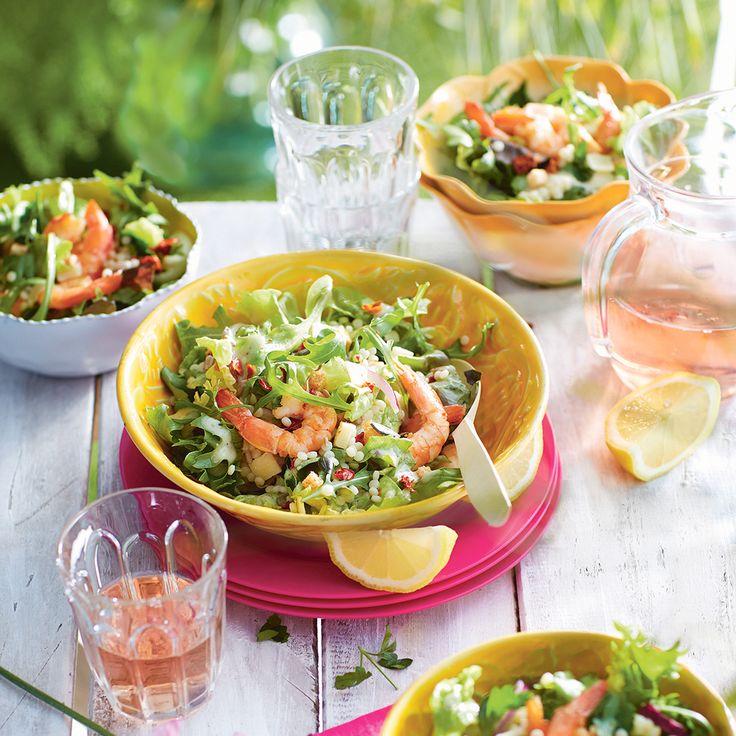 Overheerlijke Mediterrane couscoussalade met garnalen. #couscous #salade #JumboSupermarkten #recept