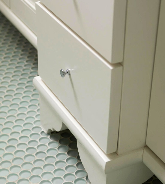 freshen your bathroom with lowcost updates penny tile floorstile
