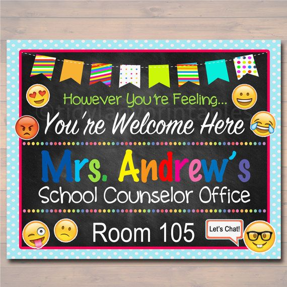 School Counselor Door Sign, Child Counselor Door Sign, Back to School Counselor Door Hanger, Therapist Office Decor, Child Psychologist Sign