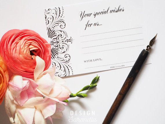 Romantic wedding guest book page printable. Easy and affordable!