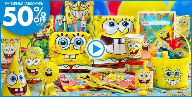 SpongeBob Party Supplies - SpongeBob Birthday - Party City