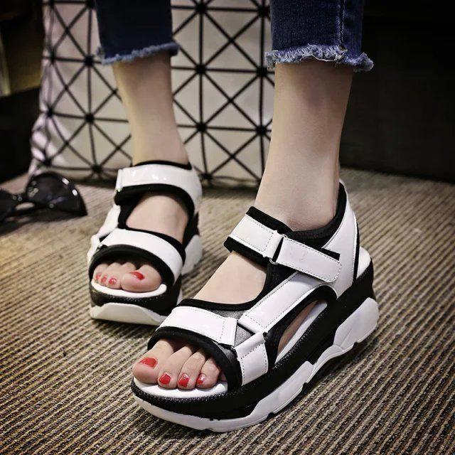 2018 Women Sandals Summer Slippers platform heel L…