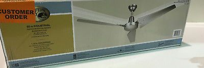 Ceiling Fans 176937: Hampton Bay Industrial 60 Brushed Steel Indoor Energy Star Ceiling Fan New -> BUY IT NOW ONLY: $89.99 on eBay!