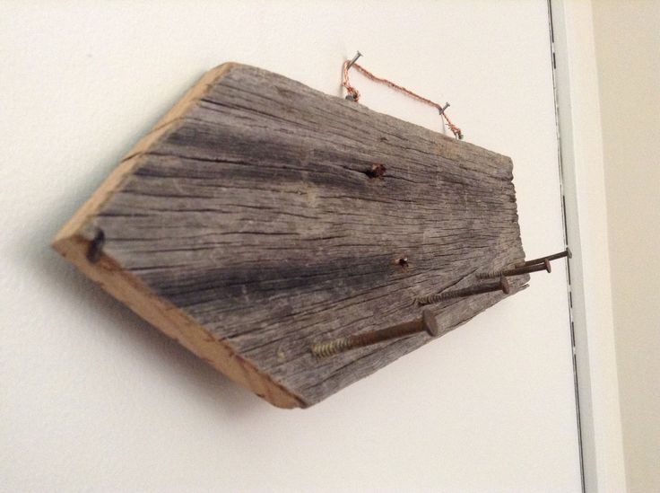 Rustic Key holder  Made with reclaimed wood And reclaimed nails