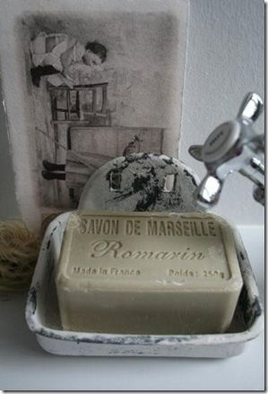 Soap savon de Marseille Thank you I think we def. have soap in common LOL!!! Love your wall remind me or anyone here to come visit xoxox
