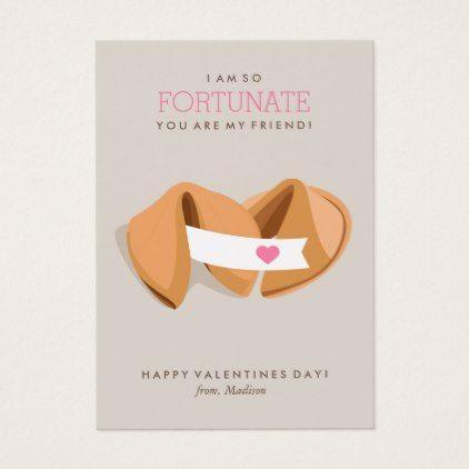 Fortune Cookie Kids Classroom Valentine Note Card | Zazzle.com