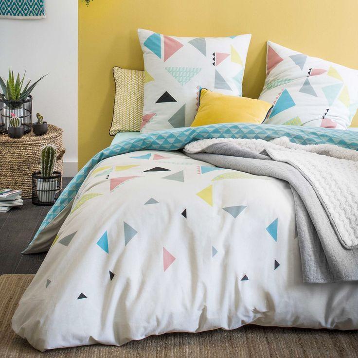 Parure de lit kite en coton collection blancheporte maison linge de maison pinterest for Caravane chambre 19 linge maison
