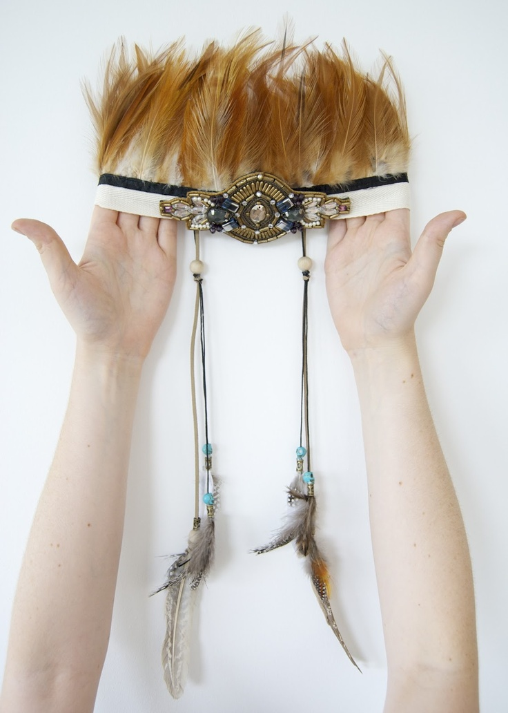 {DIY} it's tribal headdress time!