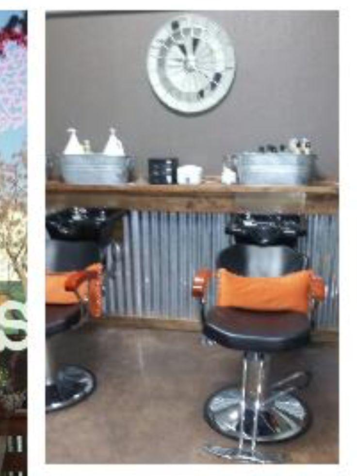 Rustic salon idea back bar