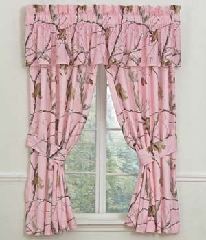 AP Pink Camouflage Designer Window Curtains