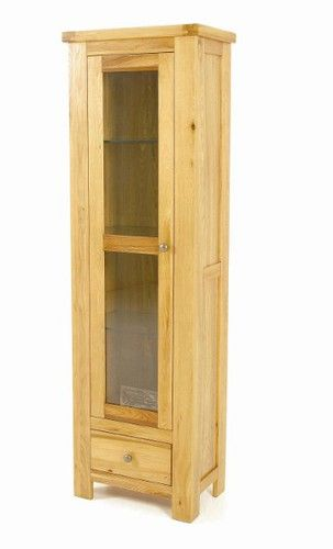 Elmwood 1 Door Display Cabinet, elmwood 1 Door Display Cabinet, elmwood furniture, light wood 1 Door Display Cabinet