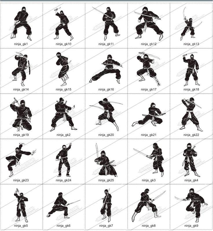 приемы по картинкам ниндзя
