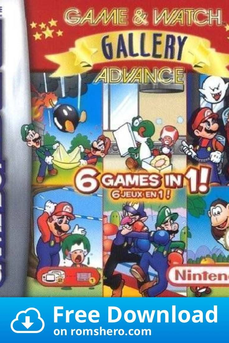 Download Game Watch Gallery Advance Menace Gameboy Advance Gba Rom In 2020 Gameboy Advance Game Watch Gameboy