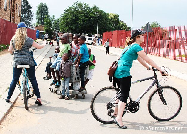 #GeePeeShotLeft ambassador cycle tour through Soweto with Lebo's Cycling