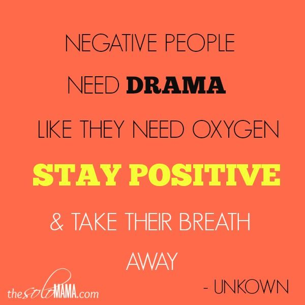 Billedresultat for stay away from drama and negativity