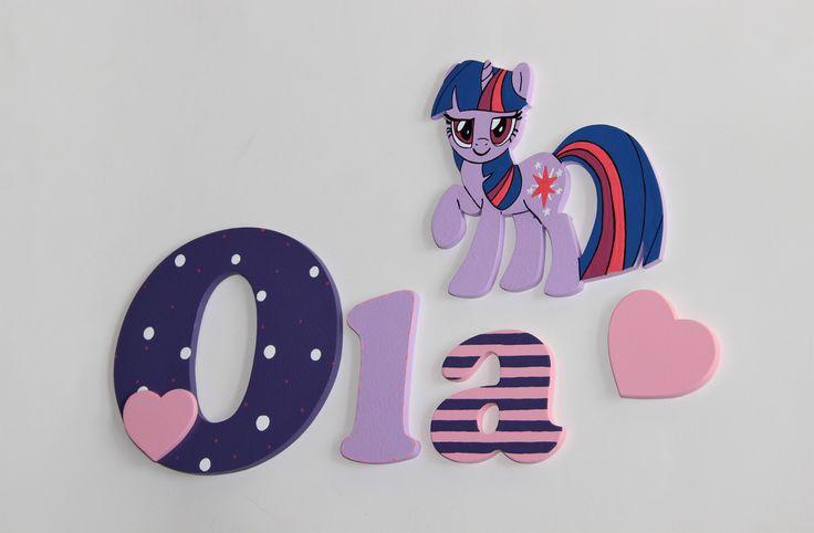 drewniane literki, Pony, kucyki Pony, dekoracje z drewna
