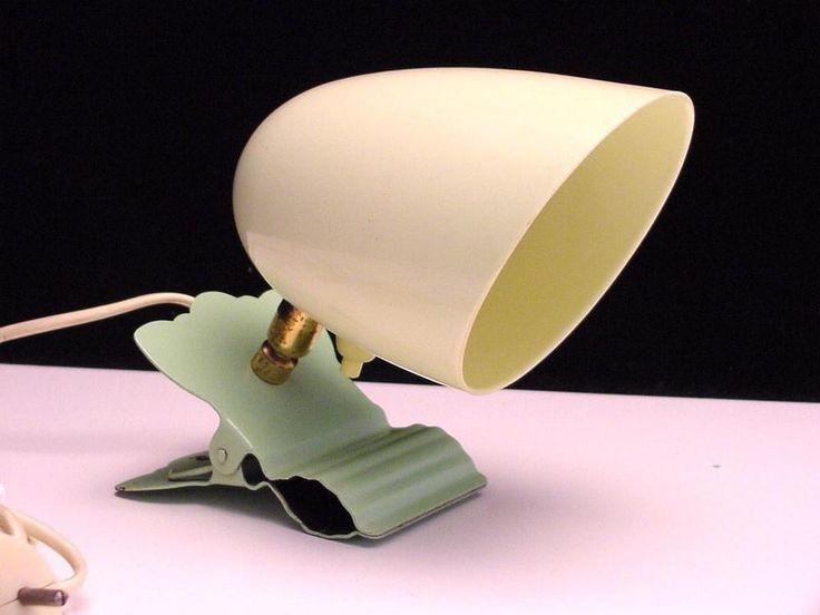 splendid art deco clip on lamp, BAKELITE SHADE