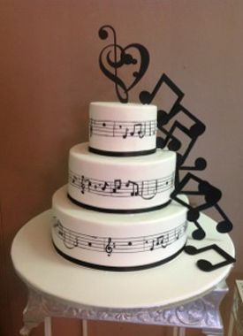 music note wedding cake | music lover cake for the music lovers this is the perfect way to show ...