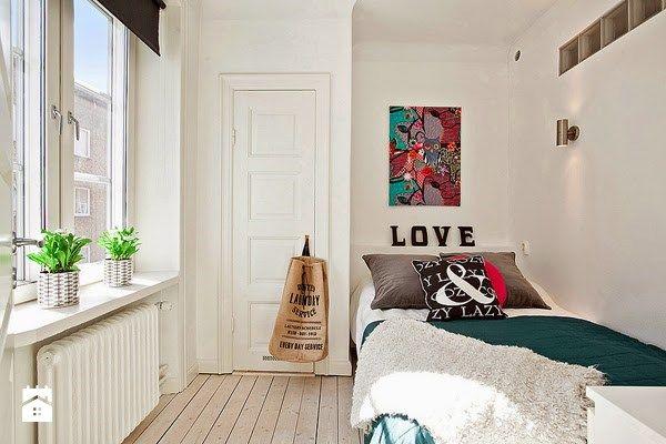 Jak urządzić małą sypialnię w stylu skandynawskim  - Sypialnia - Styl Skandynawski - Codziennie Szczypta Designu