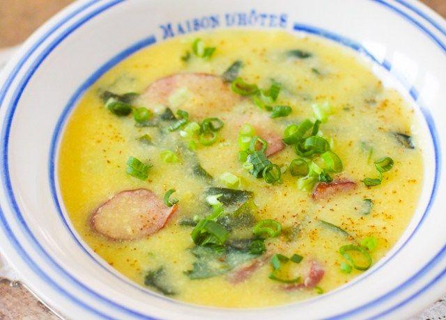 Zuppa brasiliana da provare a cena :-) con mais tostato- Sopa de fuba