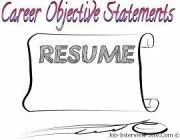 writing-career-objectives-statements-samples