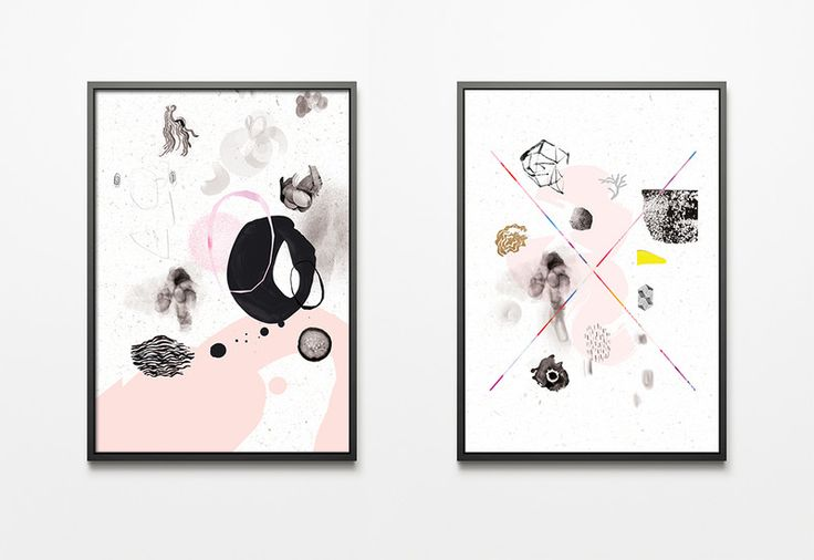 Grafiki PINKLOVE, skandynawski styl w Printlove na DaWanda.com