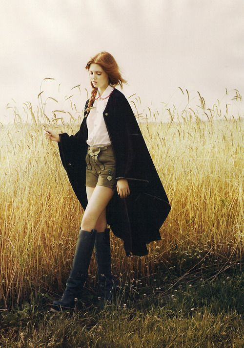 cornfield... Lindsey Wixson on the prairie.