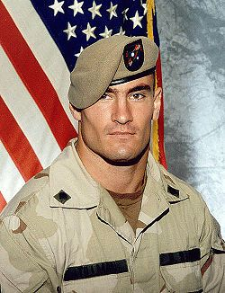 "Patrick ""Pat"" Tillman (1976-2004) Corporal, USA Ranger, 2002-04, War in Afghanistan. Killed by ""friendly fire"" while on a combat mission in the mountains of Afghanistan. Awarded Silver Star & Purple Heart. Football linebacker. Arizona Cardinals 1998-2001. After the 9-11 attack he turned down an offer of over one million dollars a year for three years from the Cardinals to enlist in the Army."