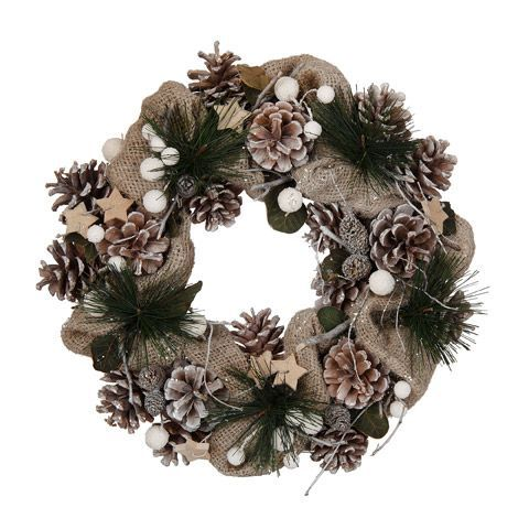 Couronne de pommes de pin Naturel - Nature essentielle - Objets de déco de Noël - Décoration de Noël - Toute la déco - Décoration d'intérieur - Alinéa
