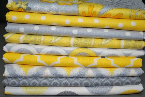 Grey Matters Fat Quarter Bundle From Camelot 9 Yellow