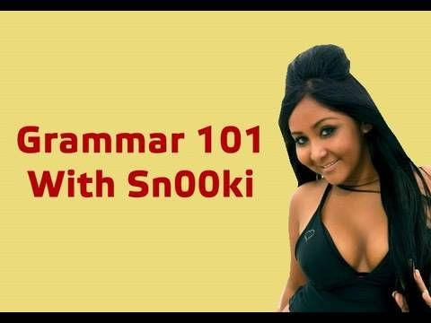 Grammar School with Snooki with John Green: this is hilarious