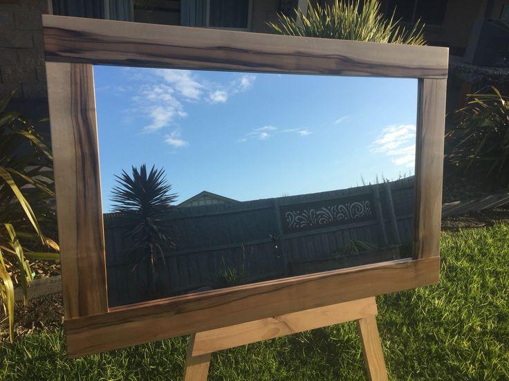 Black heart sassafras timber mirror