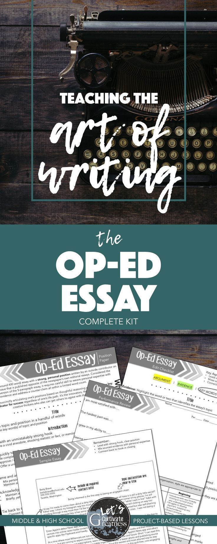 Writing PBL Project: Op-Ed Research & Essay Project | Teaching the