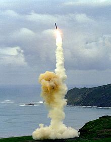 Minuteman 3 missile launch from Vandenberg Air Force Base, Central California, June 2005