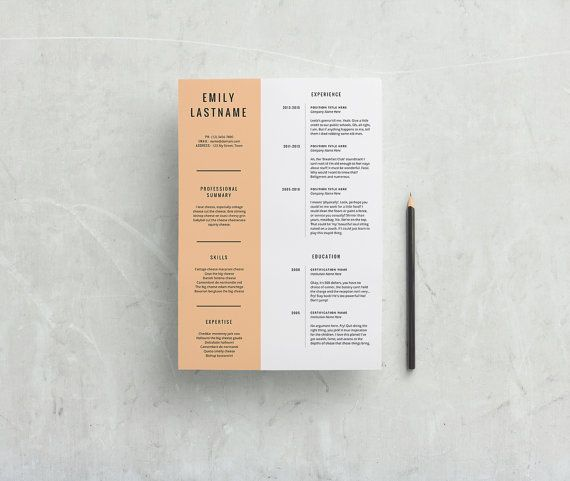 Get noticed with this creatively minimal resume CV + cover letter package! ✖ Requirements: Microsoft Word 2008 or newer PC or Mac  Dont have Microsoft Word? No worries! You can grab a free trial by going here: https://products.office.com/en-au/try  ✖ Features: A4 Size (210 x 297mm) Simple design Two-column layout Free Google fonts used Ready to Print!  ✖ What youll receive: CV + Cover Letter .docx templates Instructional pdf PDF previews All fonts used  ✖ Please note: Your...