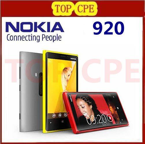 1 Year warranty Unlocked Original Nokia Lumia 920 refurbished Windows Phone 8 Dual Core 32GB Storage 4G cell phone