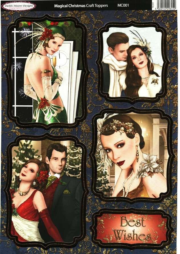 Debbi Moore Designs - Die Cut Art Deco toppers - Magical Christmas #1