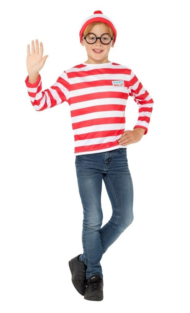 Childs Where/'s Wally Costume Girls Wenda Fancy Dress Boys Book Week Outfit Kids