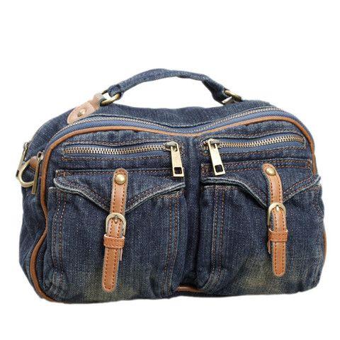 MIDOU Multi-pocket Denim Bag
