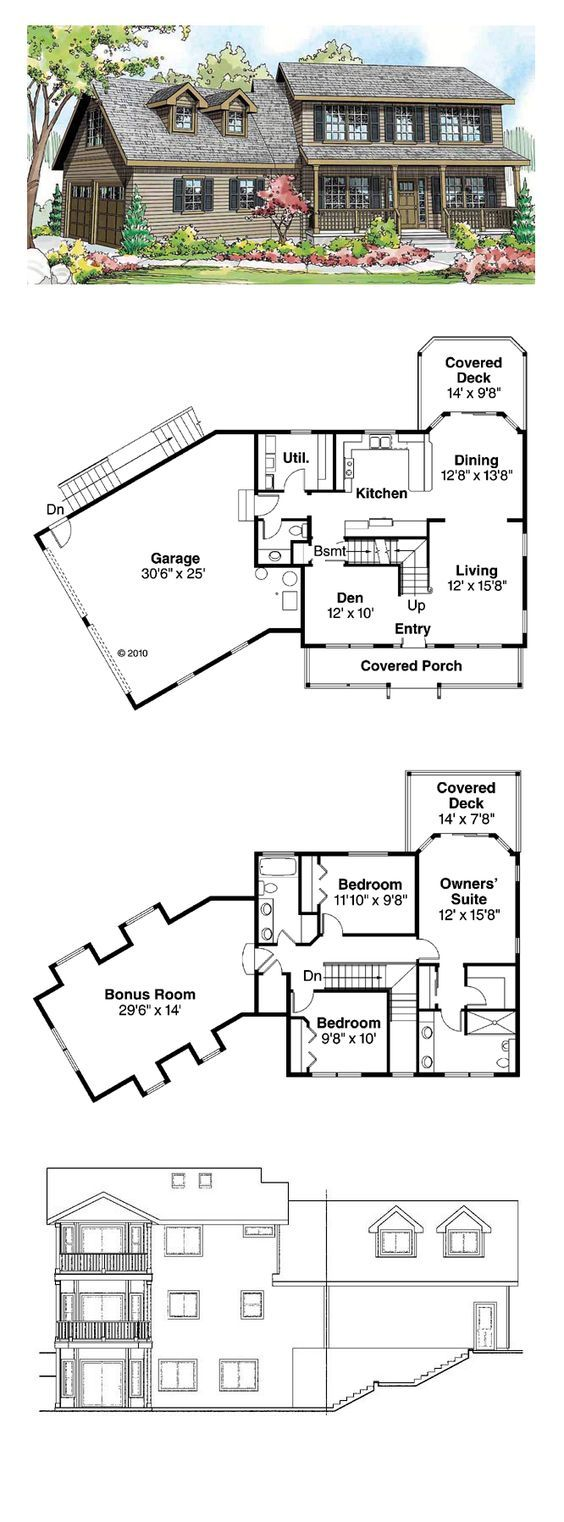 Colonial Style COOL House Plan ID: chp-50527 | Total Living Area: 1787 sq. ft., 3 bedrooms and 2.5 bathrooms. #houseplan #colonialhome