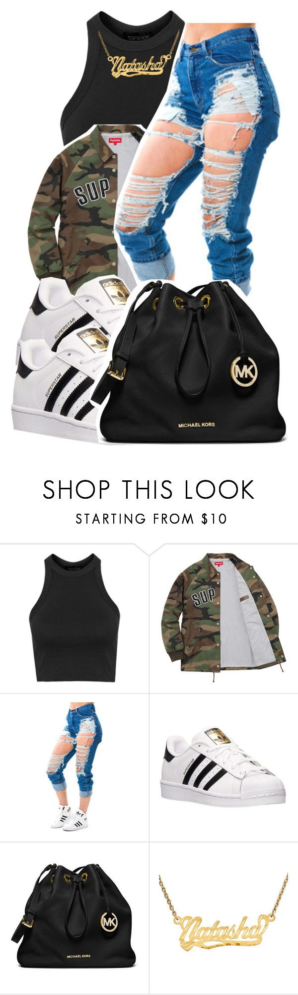 """5/15/16"" by lookatimani ❤ liked on Polyvore featuring Topshop, adidas and MICHAEL Michael Kors"
