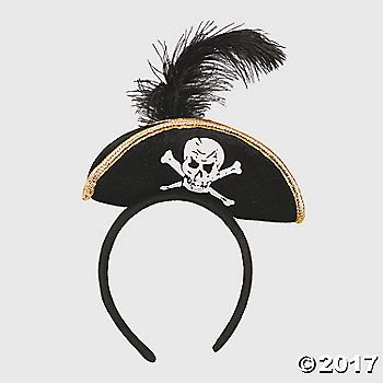 Add to your pirate costume with this accessory! Want a cool pirate hat that doesn't fall off your head? Easy. This headband keeps your pirate hat on ...