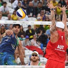 2016 Rio Olympics - Men's Preliminary Beach Volleyball match Austria VS Brazil