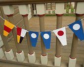 Benutzerdefinierte nautische Anzahl Flagge Papier-Banner