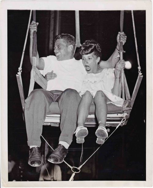 Teens having a blast...December 27, 1947 - Brooklyn, NY......In that year, I suppose this young couple would have brought us into the so called 'boomer' era.