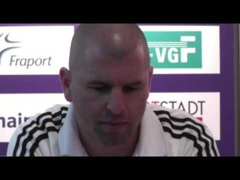 Pressekonferenz nach dem Spiel: 1. FFC Frankfurt - VfL Wolfsburg (28.04.2013). Weitere Infos unter: http://www.framba.de/content/index.php?option=com_content=article=4145:frauenfussball-bundesliga-ergebnisse-vom-20-spieltag-201213=118:bundesliga
