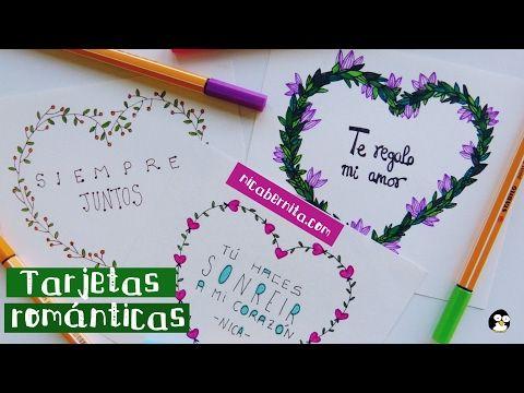 TARJETAS HECHAS A MANO CON FRASES DE AMOR 2 IDEAS PARA REGALAR a tu novio - YouTube