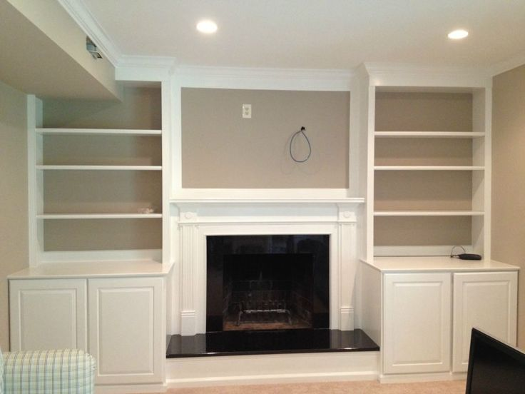 fireplace with built in bookshelves | ... Custom Trimwork and ...