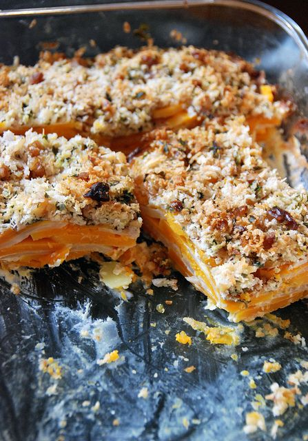 Celery Root And Squash Gratin With Walnut-Thyme Streusel Recipe ...
